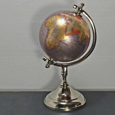 World Globe World Map Swivel Stand Geography Educational Toy  • 35£
