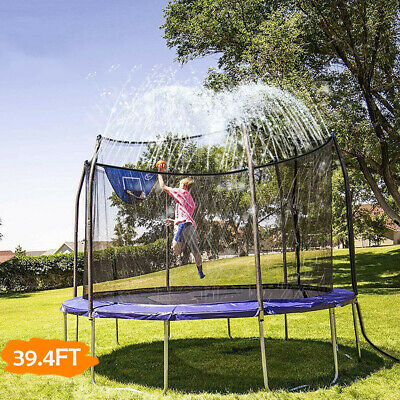 Kids Water Play Activity Trampoline Waterpark Outdoor Toys Giant Sprinkler 12M • 9.59£