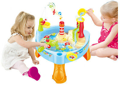 Childrens Lighthouse Water Mill Play Table Fishing Game Lights & Sounds 889-68 • 12.95£