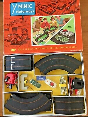 Triang Minic Motorways Racing Set M.1522 Excellent Condition Working Order • 250£