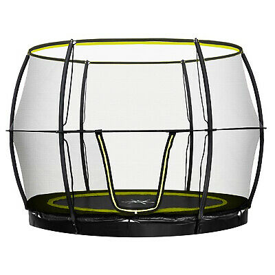 Rebo Flush FIt Inground Base Jump Trampoline With Halo Ll Enclosure - 4 Sizes • 349.95£