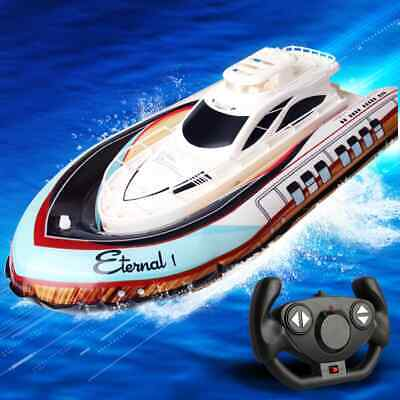 Remote Control R/C Boat High Speed Air Inflation Racing Ship Rivers Lakes 2.4Ghz • 14.95£