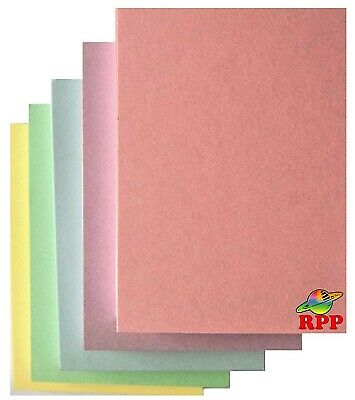 Blank Thick Flash Cards, A6 105 X 148 Mm Assorted Pastel Colours, 250 Pack • 7.80£