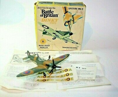 Dinky 719 Spitfire MkII, Mint Condition In Original Battle Of Britain Box • 149£