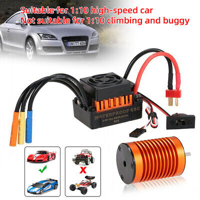 9T 4370KV Brushless Motor + 60A ESC Speed Controller Combo ME720 For 1/10 RC Car • 29.49£