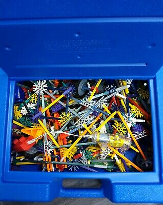 Knex Blue Case Lots Of Pieces With Motor • 20£