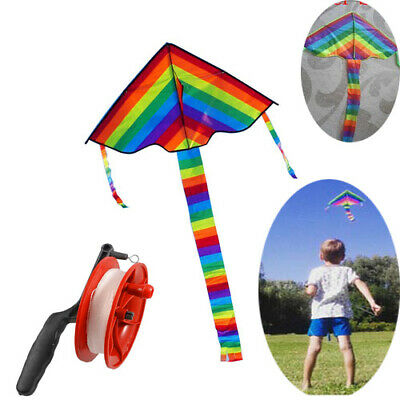 Kite Kids Toy Fun Outdoor Flying Activity Game Children Gift With Tail • 6.99£