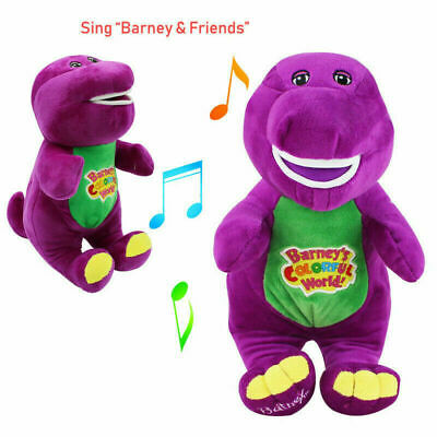Barney The Dinosaur Sing I LOVE YOU Song Purple Soft Plush Doll Toy 12'' Gift • 9.99£
