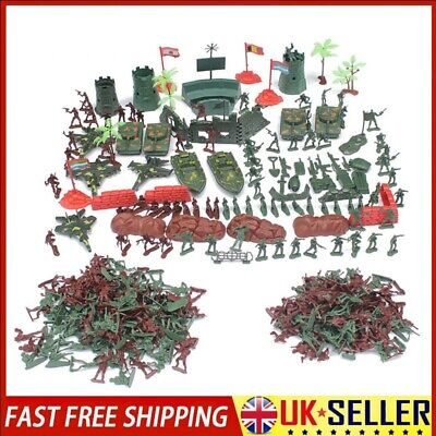 290 Pcs Military Playset Plastic Toy Soldiers Army Men 4cm Figures & Accessories • 12.99£