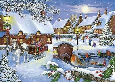 House Of Puzzles 1000 Piece Jigsaw Puzzle - Sleigh Ride - New & Sealed • 15.99£