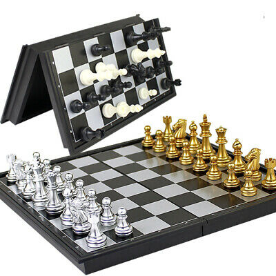 New Magnetic Folding Chess Board Portable Set High Quality Games Camping Travel • 10.99£