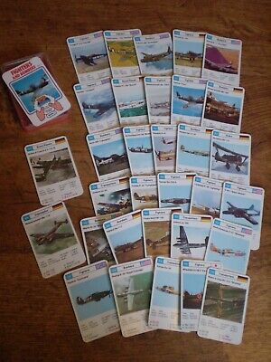 VINTAGE 1980's TOP TRUMPS FIGHTERS AND BOMBERS CARDS • 7£