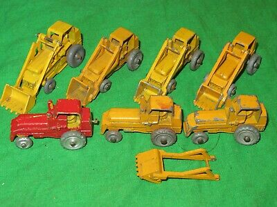7 Matchbox Lesney No.24 Weatherall Hydraulic Excavators Most For Renovation • 1.99£