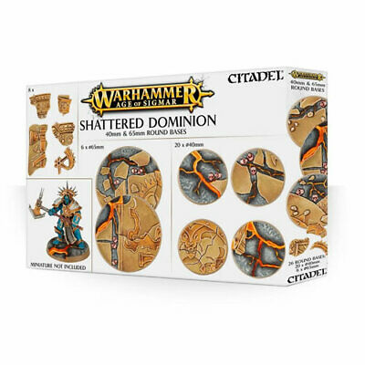 Games Workshop - Shattered Dominion: 65 & 40mm Round Bases - 99120299034 - 66-97 • 25.50£