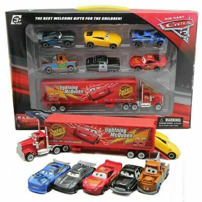Cars 2 Lightning McQueen Racer Car&Mack Truck Kids Toy Collection Set 7PCS Gifts • 11.99£