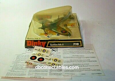 Dinky 719 Spitfire MkII, Mint Condition, In Original Bubble Box • 129£