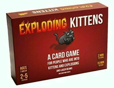 Original Explosion Kittens Family Party Card Games Tabletop Games Christmas UK • 11.99£