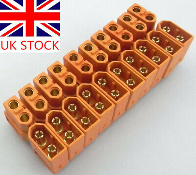 NEW 20Pcs 10Pair XT60 Male Female Bullet Connectors Plugs For RC LiPo Battery UK • 3.99£