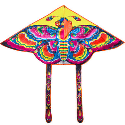 90*55cm Rainbow Butterfly Kite Outdoor Foldable Kids Kite With 50M Control  PRIB • 3.55£