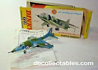 Dinky 722 Hawker Harrier, Near Mint In Original Early Issue Box With Packing • 109£