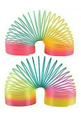 2 X Rainbow Coloured Spring Slinky Childrens Toy Springs Bouncy Toy For Party  • 2.99£