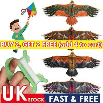 Meter Kite Line Children Gift Family Trips Flying Bird Flat Eagle 1.1m Kite Toy • 3.91£