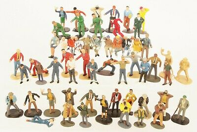 Scalextric & Others Large Quantity Of 49 Pit Crew & Spectator Figures EXCELLENT • 26£