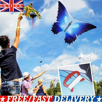 47  BEAUTIFUL BUTTERFLY SINGLE LINE KITE OUTDOOR SPORT TOY With 30M Kite Line • 6.36£