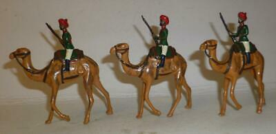 THREE WHITE METAL DORSET SOLDIERS CAMEL CORPS - 1960/70's • 21£