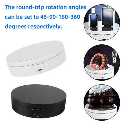 UK 360 Degree Electric Rotating Turntable Display Stand For Photography Video • 11.99£