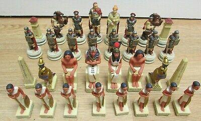 W.U. Roman And Egyptian Chess Set With Fine Detail Chess Pieces Only 2000 • 7.50£