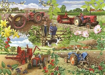 House Of Puzzles 1000 Piece Jigsaw Puzzle - Farming Year - New & Sealed • 15.99£
