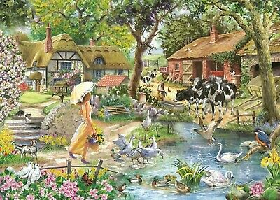 House Of Puzzles 1000 Piece Jigsaw Puzzle - Summer Stroll - New & Sealed • 15.99£