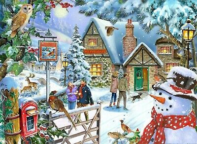 House Of Puzzles 1000 Piece Jigsaw Puzzle - Snowman's View - New & Sealed • 15.99£