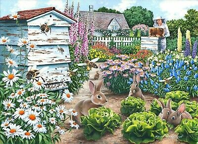 House Of Puzzles Big 500 Piece Jigsaw Puzzle - Honey Bunnies - New & Sealed • 15.99£