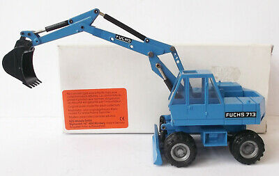 NZG - Fuchs 713 Wheeled Excavator - 1/50 - Near Mint W Box -  #165 • 49£
