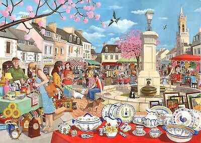 House Of Puzzles 1000 Piece Jigsaw Puzzle - French Market - New & Sealed • 15.99£