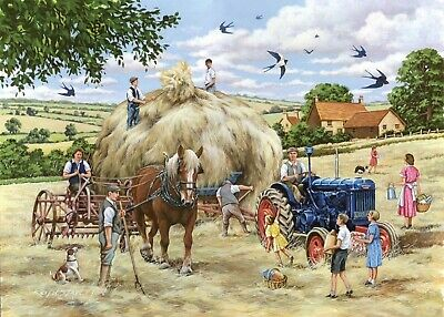 House Of Puzzles Big 500 Piece Jigsaw Puzzle - Making Hay - New & Sealed • 15.99£