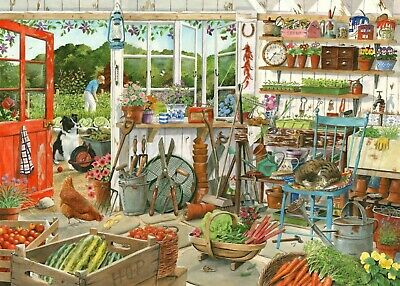 House Of Puzzles 1000 Piece Jigsaw Puzzle - Potting Shed - New & Sealed • 15.99£