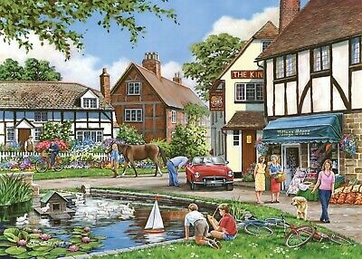 House Of Puzzles 1000 Piece Jigsaw Puzzle - A Busy Day - New & Sealed • 15.99£