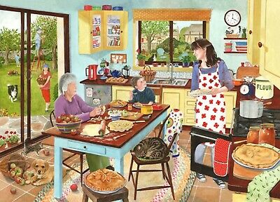 House Of Puzzles 1000 Piece Jigsaw Puzzle - Baking Apple Pies - New & Sealed • 15.99£