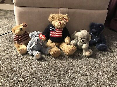 Collection Of TY Attic Treaures Orion, Sterling, Chelsea, Bluebeary And Grant • 15£