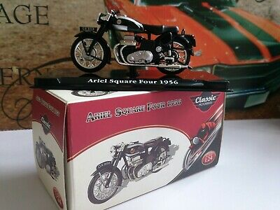 Ariel Square Four 1956  Atlas Classic 1-24 Scale Motorcycle Model Boxed  • 6£