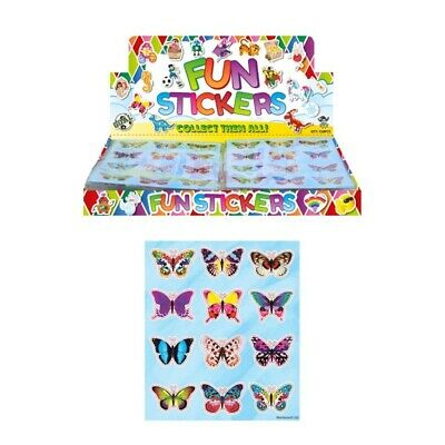 Sheet Of 12 Butterfly Stickers • 3.50£