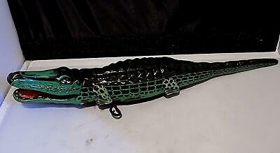 Vintage Tinplate Clockwork Crocodile Toy, Made In Germany, 1930s Or 40s. • 34.99£