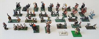 Vintage - Medieval Knights Soldiers - Large Painted Lot - 1:76 - Circa 1970-80's • 14.99£