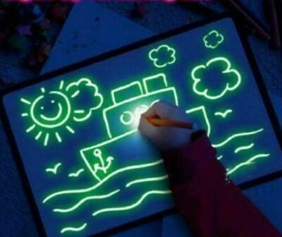 Light Up Magic Drawing Fluorescent Writing Board Kids Fun And Developing Toys • 5.99£