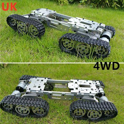 CNC Metal Robot Tank Chassis 4WD ATV Suspension Obstacle Crossing Track Crawler • 125.99£