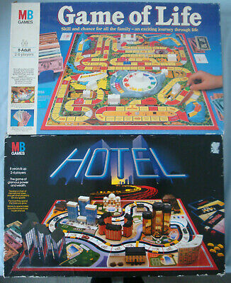 Vintage MB Games  - Game Of Life And Hotel  1980's • 19.99£