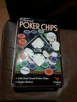 Poker Chips In A Tin ( Incomplete) • 3£